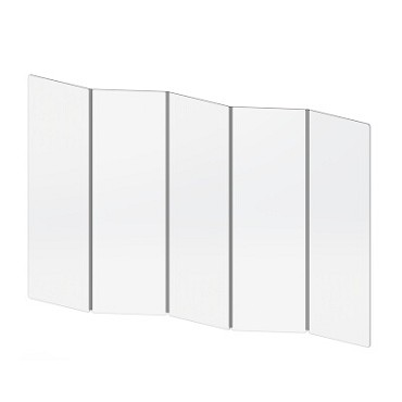 "Cal-Mil 22144-72 - Panel, 24""W x 25""D x 72""H, with memory hinge, customizable by using multiple panels"