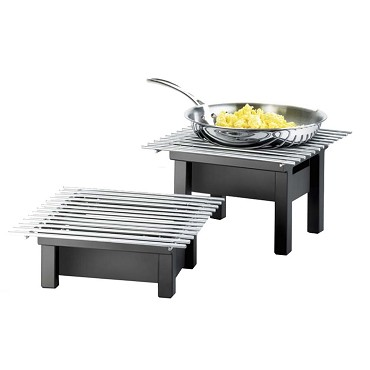 "Cal-Mil 1348-12-13 - Modern Chafer Alternative, 12""W x 12""D x 4""H, square, black, BPA Free"