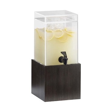"Cal-Mil 1527-1INF-96 - Beverage Dispenser, square, 1.5 gal., 8.25""W x 9.75""D x 22.75""H, midnight"