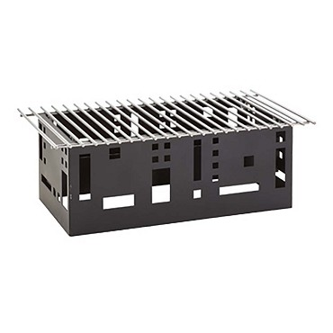"Cal-Mil 1612-22-13 - Chafer Alternative, 23""W x 15""D x 11""H, squared, black, BPA Free"