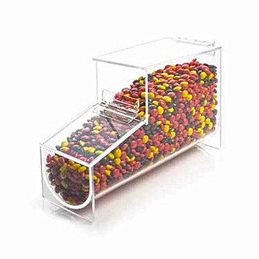 "Cal-Mil 1739 - Classic Topping Dispenser/Bin, 4-1/4""W x 12""D x 7""H, fits 1739-Rack or stand alone"