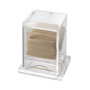 "Cal-Mil 295 - Classic Unwrapped Toothpick Dispenser, 3-3/4""W x 3-1/4""D x 5-1/4""H, acrylic, clear"