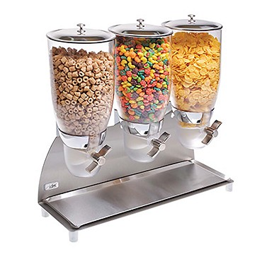 "Cal-Mil 3511-3-55 - Cereal Dispenser, (3) 3.5 liter, 18-1/2""W x 6""D x 17-3/4""H"