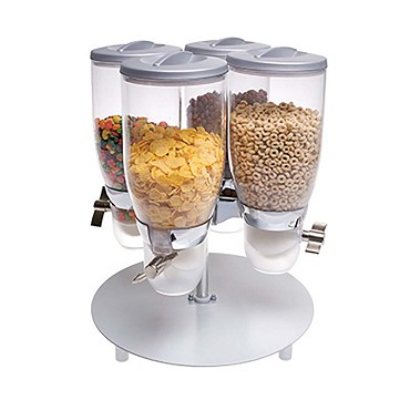 "Cal-Mil 3514-4-39 - Cereal Dispenser, (4) 3.5 liter cylinders, 13-1/2""W x 13-1/2""D x 17-3/4""H"