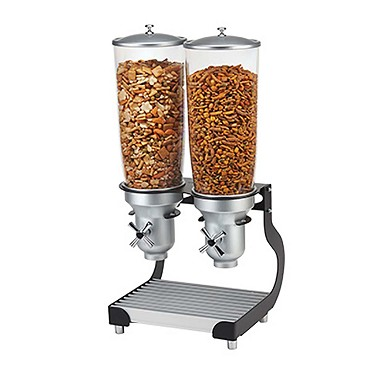 "Cal-Mil 3516-2-13 - Cereal Dispenser, (2) 5 liter cylinders, 12-3/4""W x 11""D x 25-3/4""H"
