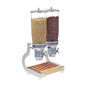 "Cal-Mil 3516-2-98 - Cereal Dispenser, (2) 5 liter cylinders, 12-3/4""W x 11""D x 25-3/4""H"