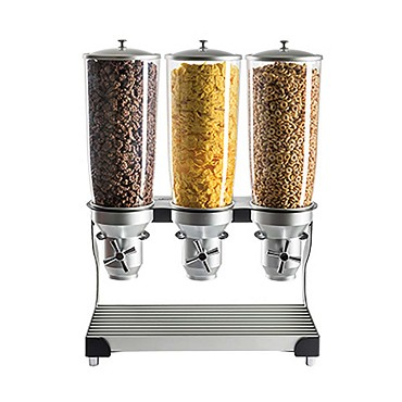 "Cal-Mil 3516-3-13 - Cereal Dispenser, (3) 5 liter cylinders, 19""W x 11""D x 25-3/4""H"