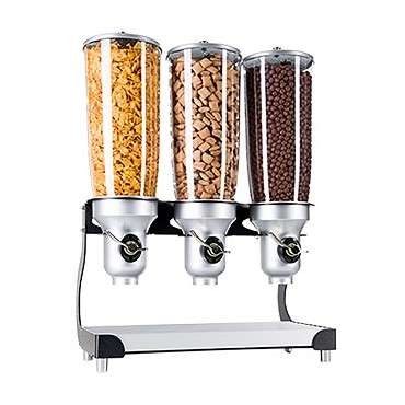 "Cal-Mil 3516-3-98FF - Cereal Dispenser, (3) 5 liter cylinders, 19""W x 11""D x 25-3/4""H"