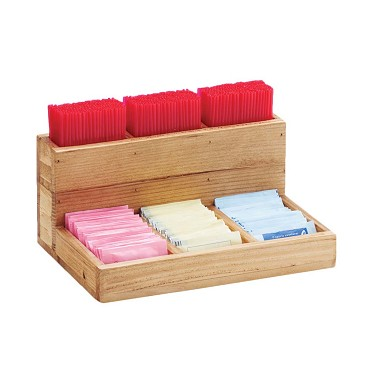 "Cal-Mil 796-99 - Condiment Organizer, 9""W x 6-1/4""D x 4-1/2""H, (6)compartment, reclaimed wood"