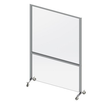 "Cal-Mil 22142-31BTMPNL - Bottom Panel, for 31-1/2""W mobile partition, acrylic"