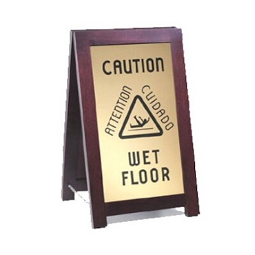 "Cal-Mil 851-WET - ""Wet Floor"" Sign, 12""W x 17-1/2""D x 20""H, A-frame"