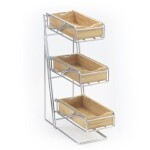 Cal-Mil 1235-39-60 - Condiment Display, 3-tier, 5-1/4