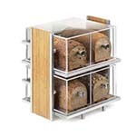 Cal-Mil 1279 - Silver Wire & Bamboo Bread Box Display, 14 x 11-1/2 x 15 in.