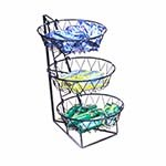 Cal-Mil 1292-3 - 3 Tier Display Rack w/Round Wire Baskets, 12 x 18 x 22 in.
