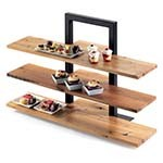 Cal-Mil 1449-68 - Crushed Bamboo Frame Riser Shelves, 32 x 11-1/2 x 1/2 in.