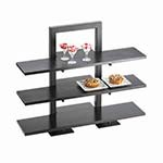 Cal-Mil 1464-13 - One Piece Black Frame Riser, 18-1/4 x 11 x 25 in.