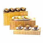 Cal-Mil 166-11-60 - Rectangle Bamboo Display Riser, 20 x 7 x 11 in.