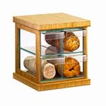 Cal-Mil 1718-60 - Bamboo/Green Glass Bread Case, 16-1/2 x 15 x 15 in.