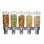Cal-Mil 3518-5-39 - Cereal Dispenser, (5) 5 liter cylinders, wall-mount, 31
