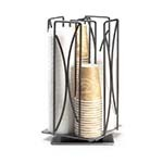 Cal-Mil 369 - Revolving 4 Section Cup/Lid Organizer, 8 x 8 x 17-1/2 in.