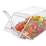 Cal-Mil 492-H - Clear Acrylic Stackable Topping Bin, 4-1/2 x 11 x 5-1/2 in.