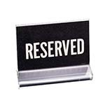 Cal-Mil 500 - Classic Reserved Message Holder, 4-1/2 x 3-1/2 in.