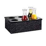 Cal-Mil 707-12 - Black Acrylic Carafe Collar w/6 Holes, 12 x 20 in.