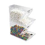 Cal-Mil 927 - Clear Stackable Topping Dispenser w/Magnetic Lid, 4 x 11 x 7 in.