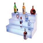 Cal-Mil LQ31 - Lighted 3 Tier Liquor Display, 18 x 30 x 18 in.