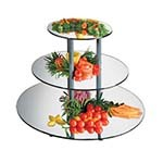 Cal-Mil MT240 - 3 Tier Round Gourmet Mirror Riser, 24 x 18-3/4 in.