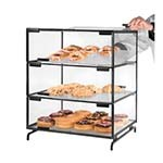 Cal-Mil PC300-13 - 3 Tier Pastry Display Case w/Black Steel Frame, 16 x 23 x 20 in.