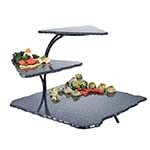 Cal-Mil SS800-31 - Gourmet Faux-Stone 3 Tier Serving Display, 20 x 30 in.
