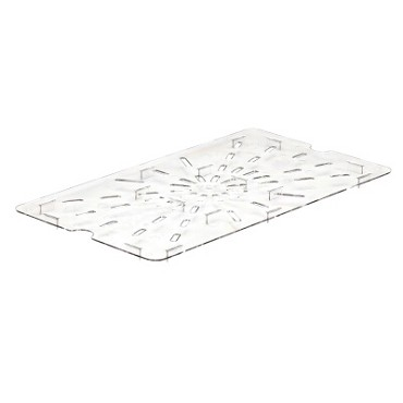 Cambro 10CWD135 - Drain Shelf, Full Size, Clear (Case of 6)