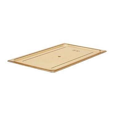 Cambro 10HPC150 - H-Pan Food Cover, Full Size, Flat, Amber (Case of 6)