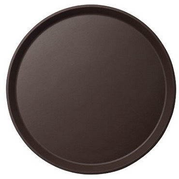 "Cambro 1400CT138 - 14"" Round Serving Tray, Tavern Tan (Case of 12)"