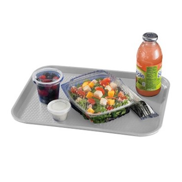 Cambro 1216FF107 - Fast Food Tray, Textured, Pearl Gray (Case of 24)