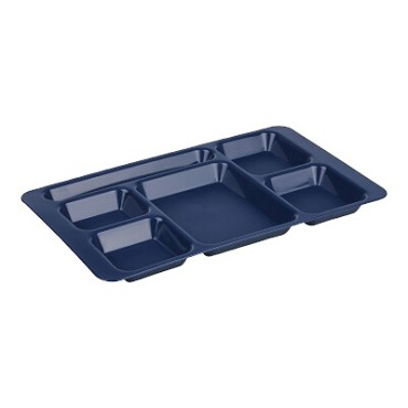 Cambro 1596CP186 Penny Saver - 6 Compartment Serving Tray in Navy Blue (Case of 24)