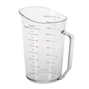 Cambro 200MCCW135 - Measuring Cup, 2 quart, Clear