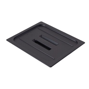 Cambro 20CWCH110 - Food Pan Cover, 1/2 Size, with Handle, Black (Case of 6)