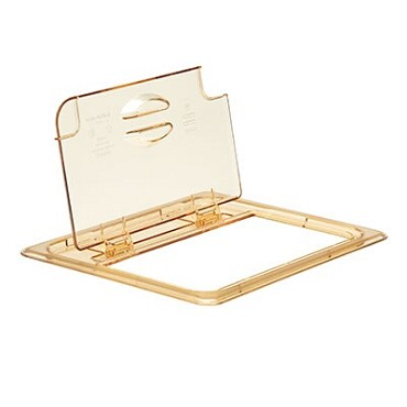 Cambro 20HPLN150 - Food Pan Cover, 1/2 Size, Hinged, Amber (Case of 6)