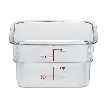 Cambro 2SFSCW135 - Food Storage Container, 2 Quart, Clear