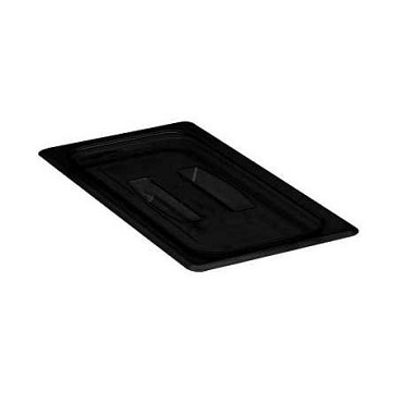 Cambro 30CWCH110 - Food Pan Cover 1/3 Size, with Handle, Black
