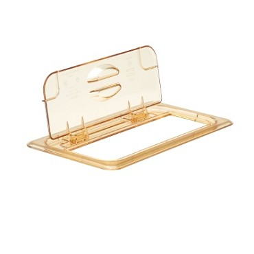 Cambro 30HPL150 - Food Pan Cover, 1/3 Size, Hinged, Amber (Case of 6)