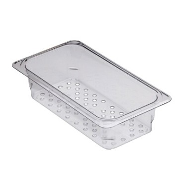 Cambro 33CLRCW135 - Colander, fits 1/3 Size Pans, Clear (Case of 6)