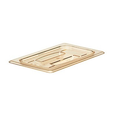 Cambro 40HPCH150 - H-Pan Cover, 1/4 Size, Flat, Amber (Case of 6)