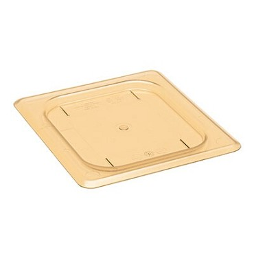 Cambro 60HPC150 - High Heat Food Pan Cover, 1/6 Size, Plain, Amber