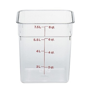 Cambro 8SFSCW135 - Food Container, 8 Quart, Clear