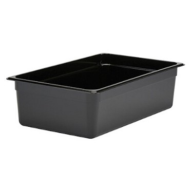 Cambro 16CW110 - Food Pan, Plastic, Full Size, Black (Case of 6)
