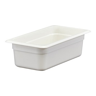 Cambro 34CW148 - Food Pan, Plastic, 1/3 Size, White (Case of 6)
