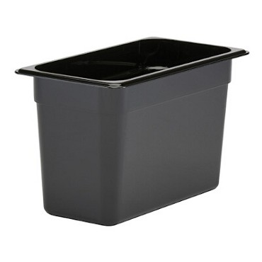Cambro 38CW110 - Food Pan, Plastic, 1/3 Size, Black (Case of 6)